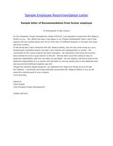 Employee Recommendation Letter Sample