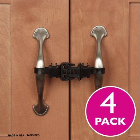 Childproof Cabinet Locks by Kiscords Childproof Cabinet Locks For Handles 4 Pack