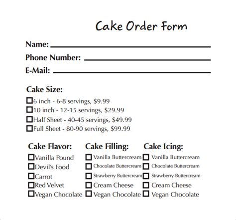 pin cake order forms   uk addicted  costco bakery