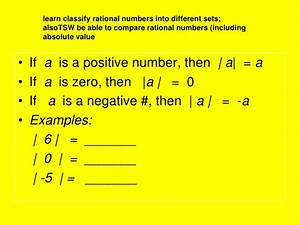 2.1 integers & rational numbers