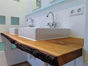 Möbel Für Aufsatzwaschbecken : waschtischplatte holz f r aufsatzwaschbecken waschtisch unterschrank ~ Markanthonyermac.com Haus und Dekorationen