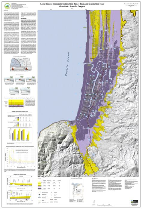 dogami tim clat  tsunami inundation maps  gearhart