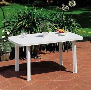 Table De Jardin En Bois Pas Cher : table de jardin en plastique pas cher ~ Teatrodelosmanantiales.com Idées de Décoration