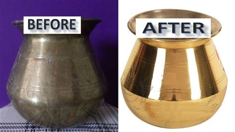 Messing Reinigen by How To Clean Brass Vessels At Home Easy The