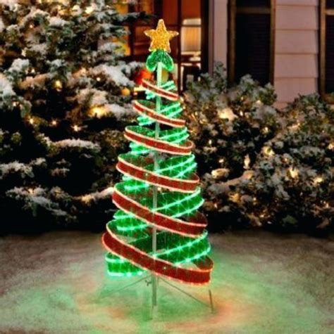 Spiral Tree Lighted by Multi Color Led Lighted Outdoor Spiral Trees