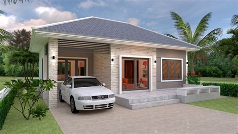 House Design Plans 11x11 with 3 Bedrooms Full Plans