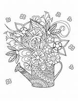 Coloring Adult Adults Printable Bride Mandala Colouring Floral Sheets Zone Flowers sketch template