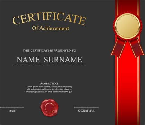 honor certificate creative design vector  vector
