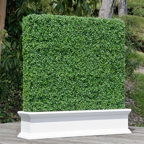 fake shrubs custom artificial hedges in planters