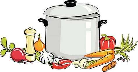 soup pot illustrations royalty  vector graphics