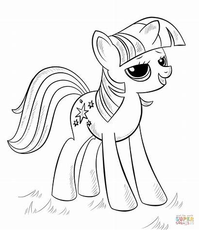 Coloring Alicorn Pages Princess Printable Drawing Paper