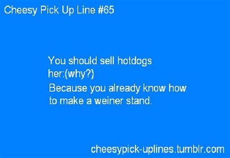 hotdogs funniest pick  lines