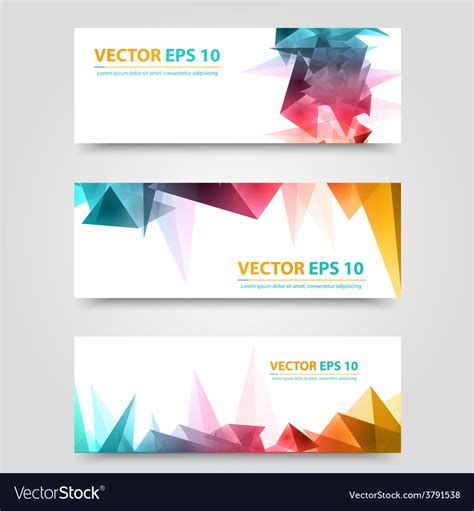 Flyer Template Header Design Royalty Free Vector Image