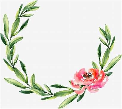 Wreath Watercolor Garland Christmas Flower Painting Circle