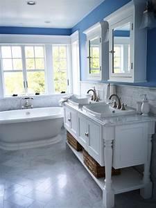 The best white bathrooms maria killam the true colour for True blue bathrooms
