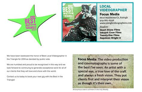 Best Raleigh Videographerindy Best Of The Triangle 2014