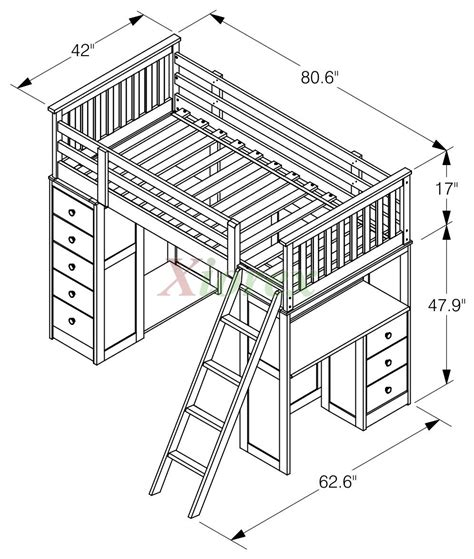 bunk beds with desk huckleberry loft bunk beds for with storage desk
