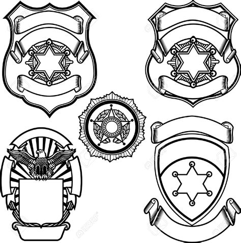 police badge template    clipartmag