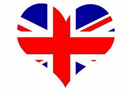 Union Jack Flag Heart Clipart Domain Britain