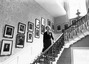 Margaret Thatcher On The Stairs  10 Downing Street