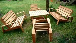 fauteuil bois salon de jardin