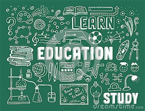 education doodle elements stock image image