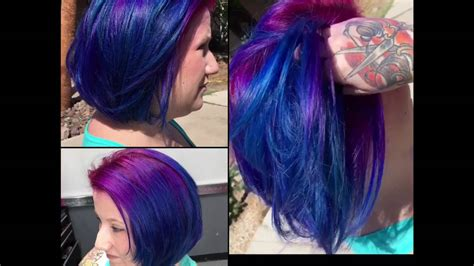 Pink Purple And Blue Hair 💙💕💜 Youtube