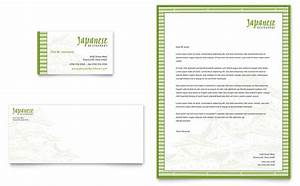 japanese restaurant business card letterhead template design With restaurant letterhead templates free