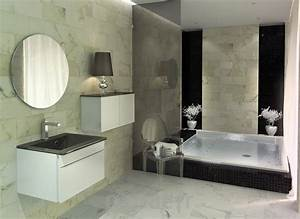 une salle de bain contemporaine deco in With salle de bain design avec décoration de salle à manger moderne