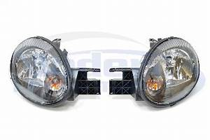 OEM Style Black Housing Headlights 03 05 Neon Lights