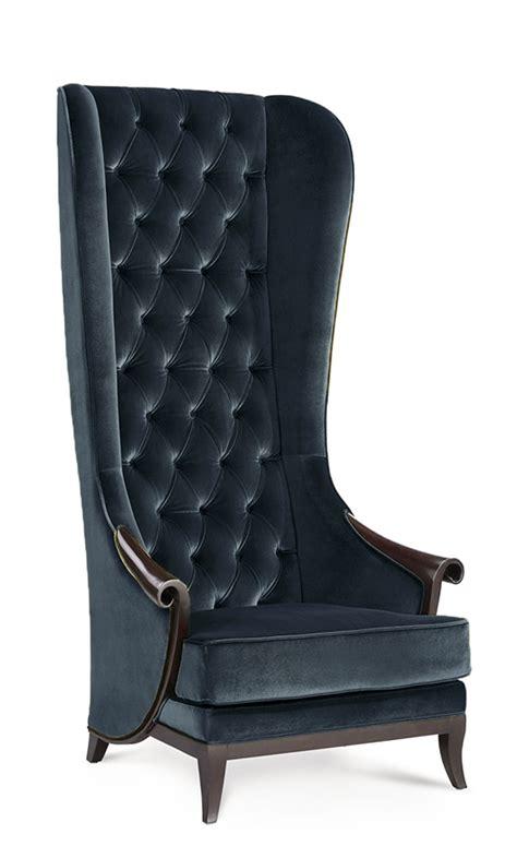 high back wingback chair duchess high back wing chair midnight black velvet