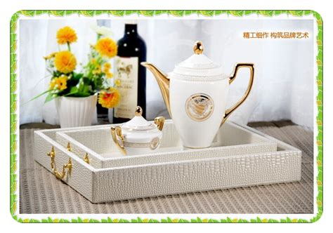 White Pearl Serving Tray Eat In Bed Food Tray Fashion