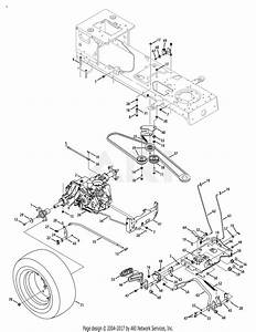 Mtd 14aa815k004  2008  Parts Diagram For Drive System