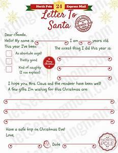 printable letter to santa template free santa letter With make a letter to santa claus
