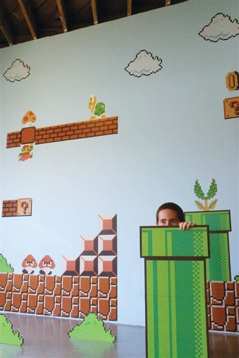 xxl super mario bros mario cartoon wall stickers