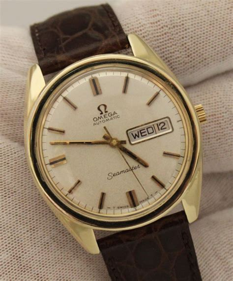 Vintage Omega Seamaster Day Date Gold Plated 37mm Circa