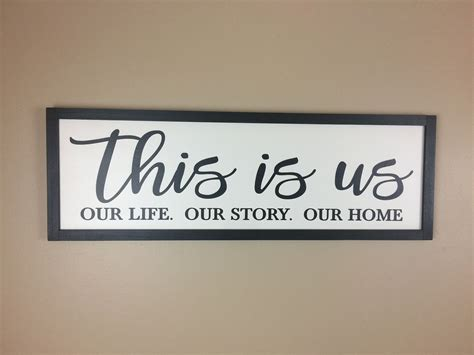 Date first listed on : THIS IS US Sign | Our Life Our Story Our Home Sign | Family Wall Decor | Farmhouse Style… (With ...