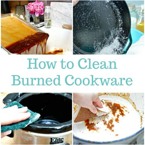 clean burned cookware mom  real