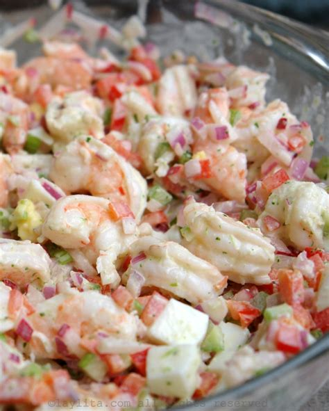 shrimp salad shrimp salad with cilantro mayonnaise laylita s recipes