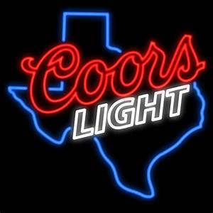 2019 Texas Coors Light Neon Sign Custom Real Glass Tuble