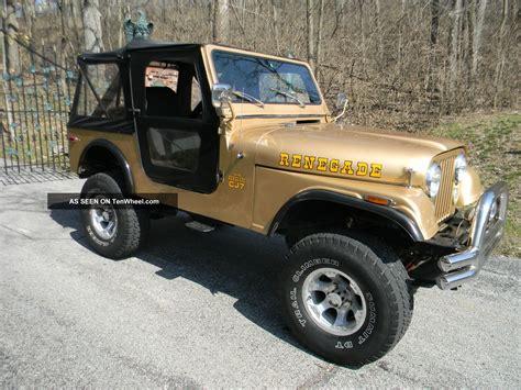 renegade jeep cj7 1976 jeep cj7 renegade sport utility 2 door 5 0l