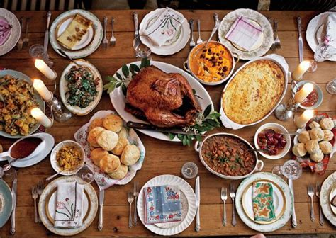 a new take on the traditional thanksgiving feast american american