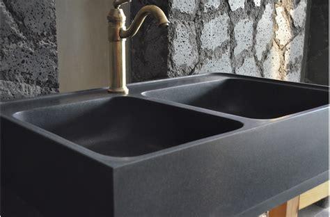 black kitchen faucet évier en pour cuisine karma shadow 90x60 granit