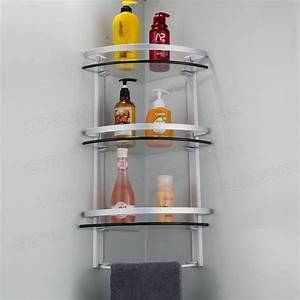 Bathroom corner shelf completes your small bathroom for Bathroom corner shelf completes your small bathroom