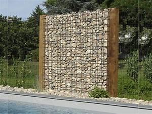 Mur En Gabion : gabions mur en pierre cl tures betafence mur en pierre ~ Premium-room.com Idées de Décoration
