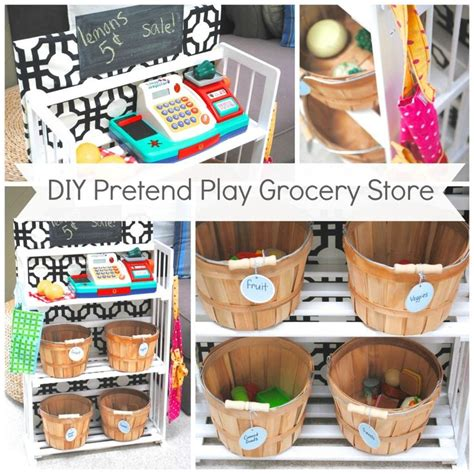 diy kids pretend play grocery store   bookcase