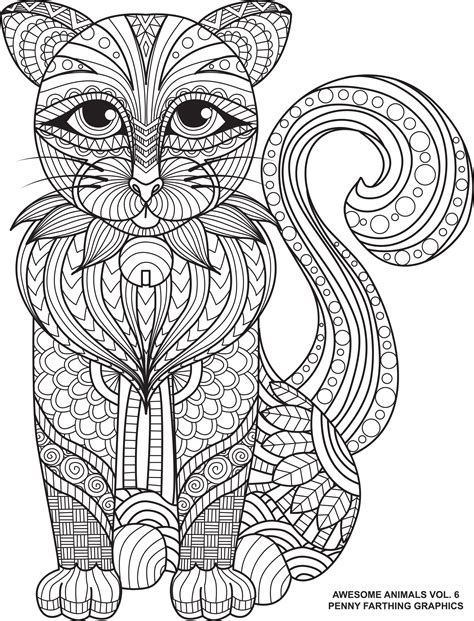 cat  awesome animals volume  animal coloring
