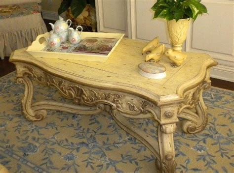 world french renaissance coffee table hand painted