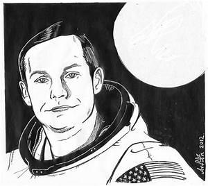 Neil Armstrong Face Drawing - Pics about space