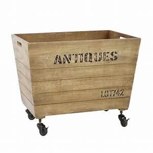Caisse à Roulettes : caisse roulettes en bois 46 x 71 cm antiquit maisons ~ Teatrodelosmanantiales.com Idées de Décoration